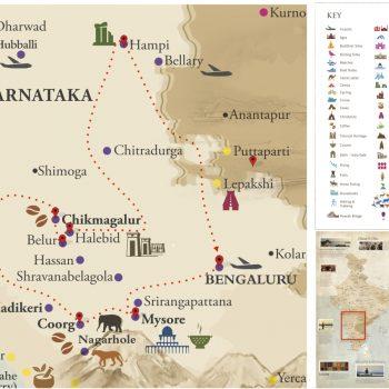 India - Karnataka Map - Voyages Personnalisés