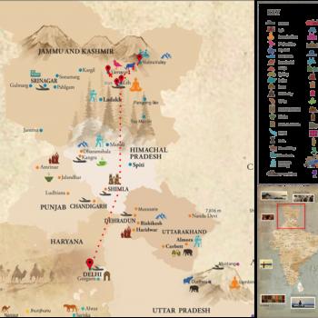 India - Himalayas Map - Voyages Personnalisés
