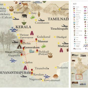 India - Kerala map - Voyages Personnalisés