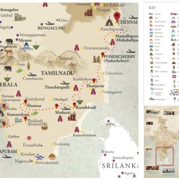 Map Splendour of southern India - Voyages Personnalisés