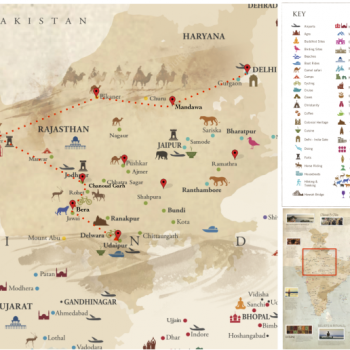 India - Map Unexplored Rajasthan - Voyages personnalisés