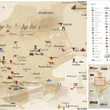India - Rajasthan Map - Voyages Personnalisés